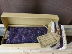 Lavender eye pillow cotton with cover  purple by KusalaGifts