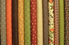 Posh Pumpkins Half Yard Bundle of 12 by by SistersandQuilters, $60.00