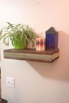 Rustic wood floating shelf with hidden compartment, rustic home decor, rustic shelves, wood wall shelf, reclaimed wood floating shelf by SheltonWoodworks on Etsy
