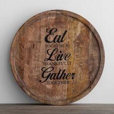 Eat Together, Live Thankfully, Gather Together - Lazy Susan