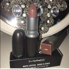 Mac stone lipstick and lip pencil bundle Both Brand new in box and guaranteed authentic! Please take a look at my feedback and buy with complete confidence!  MAC Cosmetics Makeup Lipstick