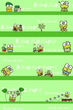 Image via We Heart It https://weheartit.com/entry/134637055 #background #green #keroppi #wallpaper #fondo