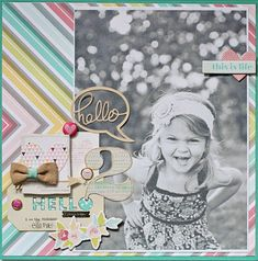 Adorable!!! ♥ Made using the '5th & Frolic' Collection by Dear Lizzy. LO by Megan Klauer | Studio Calico