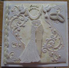 M.K - huwelijkskaart Wedding Cards Handmade, Greeting Cards Handmade, Wedding Shower Cards, Spellbinders Cards, Engagement Cards, Wedding Anniversary Cards, Craft Wedding, Wedding Scrapbook, Marianne Design