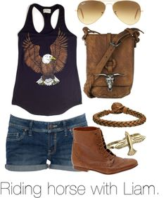 """Riding horse with Liam."" by welove1 ❤ liked on Polyvore"
