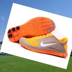 Nike Free Run 4.0 V3 Scarpe Donna Grigio Arancione,HOT SALE!