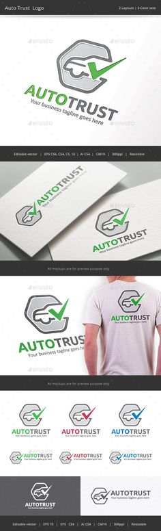 Auto Trust Car Check Logo — Vector EPS #service #standard • Available here → https://graphicriver.net/item/auto-trust-car-check-logo/9380808?ref=pxcr