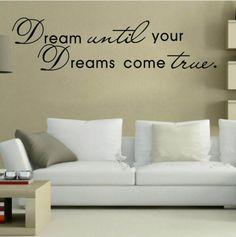 Dream until your dreams come true sisustustarra http://www.salonsydan.fi/tuote/dream-until-your-dreams-come-true-sisustustarra/