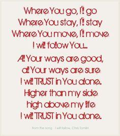 where You go, i'll go....