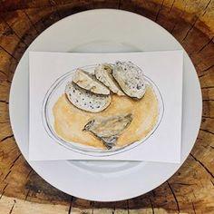 #lunchlalaThe beginning of my long term food illustration project.💉 Hospital and school lunches 📚 •sviečková••tenderloin on cream•.#foodillustration #foodillustrator #foodart #foodie #foodgasm #cooking #cook #illustration #art #bratislava #slovakartist #artist #foodpainting #foodblog #foodblogger #lovefood #delicious #yummy #bratislavafood #food #hospitalfood #schoolfood @nemocnicne_jedlo #nemocnicnejedlo Food Illustrations, Illustration Art, Hospital Food, Food Painting, Personal Portfolio, Food Drawing, School Lunches, Bratislava, Food Art