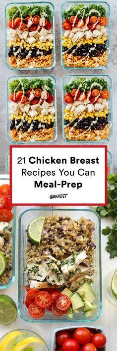 Winner, winner, chicken dinner (or lunch). #greatist http://greatist.com/eat/chicken-breast-recipes-you-can-meal-prep