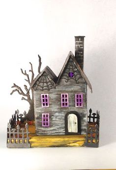 With Glue and Glitter : Show Us Your Metal - Spooky Abandoned Farmhouse