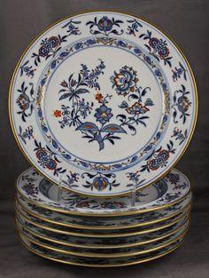 Antique Meissen China Blue Onion Rich Dinner Plate