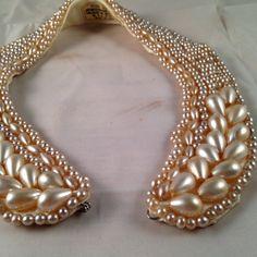 love pearl beaded collars. vintage on etsy. $45