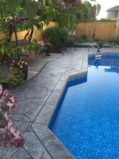 Pick a pattern and color for Pool Decks. Also patios, walkway, driveway ideas.
