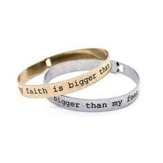 My faith bangle bracelet (2 colors)