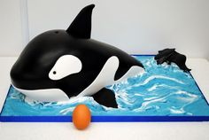 Whale cake - step by step - by Sweet Temptations Cake