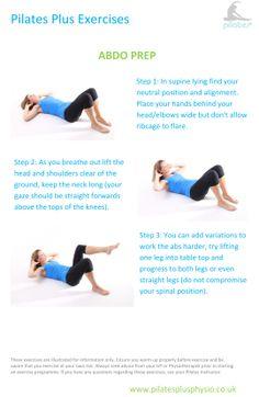 Pilates at home - abdo prep exercise