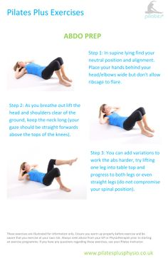 Pilates at home - abdo prep exercise