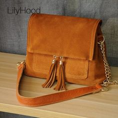 39.99$  Buy now - http://alibec.shopchina.info/go.php?t=32782630694 - 2017 Women Genuine Leather Fringe Shoulder Bags Fashion Cow Suede Leather Tassel Brown Chain Multi Pockets Crossbody Bucket Bags 39.99$ #aliexpresschina