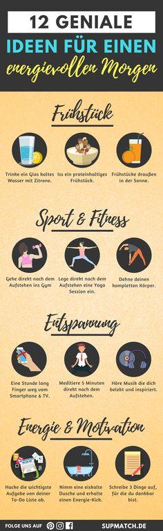 12 geniale Ideen für einen energievollen Morgen. Für Fitness Anfänger.