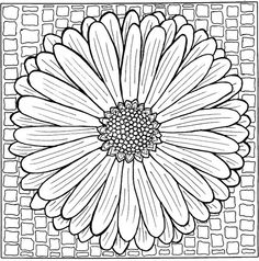 Bloem MandalaADULT FLOWERS COLORING BOOK PAGESMore Pins Like This At FOSTERGINGER Pinterest