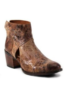 2c8dc8ee236 Diba True Women s Distressed Opened Up Bootie - Tan - 8M. More information.  More information. Free People Lost Valley Sliced Leather Back Zip Block Heel  ...