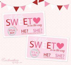 Valentine S Day Themed Baby Gender Reveal Craft Ideas Pinterest
