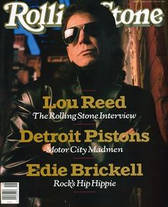 Read our 1989 cover story where Lou Reed talks about the Velvet Underground, Andy Warhol and his album 'New York': http://rol.st/1dADwhA