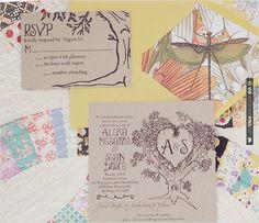 monogram wedding invite | VIA #WEDDINGPINS.NET