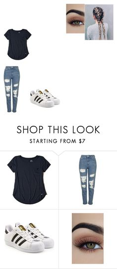 """""""Untitled #689"""" by melissaperez427 on Polyvore featuring Hollister Co., Topshop and adidas Originals"""