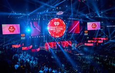 ATOMIC designed and build the striking 2017 iHeartRadio Music Festival Stage held at the T-Mobile Arena in Las Vegas, NV. Vegas 2017, Las Vegas, Stage Design, Set Design, Design Ideas, Festival 2017, Staging, Neon Signs, Music