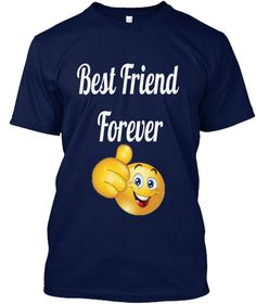 Best Friend Forever Navy T-Shirt Front