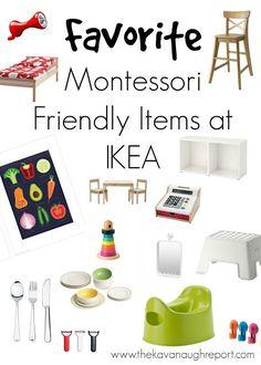 Montessori at IKEA. My favorite Montessori friendly products at IKEA.