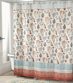 coral shores shower curtain