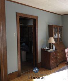 Best Wall Colors, Best Neutral Paint Colors, Wall Paint Colors, Paint Colors For Living Room, Dark Wood Living Room, Wood Trim Walls, Dark Wood Trim, Natural Wood Trim, Brown Wood