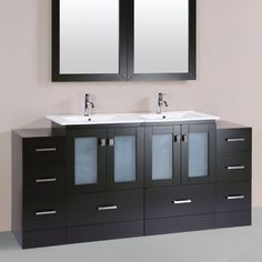 Pacific Collection Hermosa 72 in. Double Bathroom Vanity