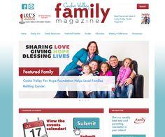 CacheValleyFamilyMagazine.com - online magazine website design