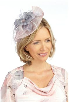 New Grey Pink Sinamay Feather Fascinator Hat Shaped Saucer Disc Wedding Hats And Feathers