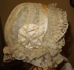 ANTIQUE BEAUTIFUL HAT FOR DOLL JUMEAU SIZE 14 CIRCA 1880