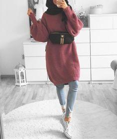 Tag your best friend . Modest Fashion Hijab, Modern Hijab Fashion, Street Hijab Fashion, Casual Hijab Outfit, Hijab Fashion Inspiration, Islamic Fashion, Muslim Fashion, Modest Outfits, Casual Outfits