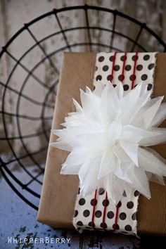 Thinking outside the box using common household items like freezer wrap to make beautiful bows.
