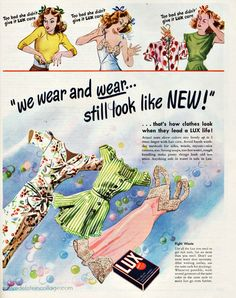Lux Laundry Soap Lingerie | 1944 | Sally Edelstein | Flickr