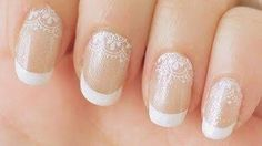 Beauty - Lace French Manicure Nail Tutorial (Konad Stamping)