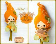 PDF. Pineapple girl. Plush Doll Pattern Softie Pattern Soft