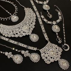 Luxury In Silver Necklaces Indian Bridal Necklace