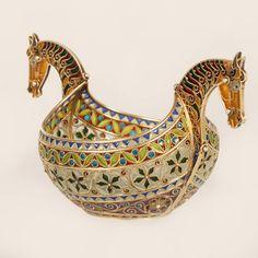 Marius Hammer plique-à-jour enamel bowl | John Atzbach Antiques