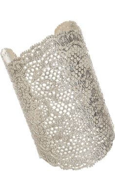 Aurélie Bidermann Silver Large Lace Cuff