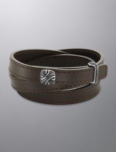 Armory® Wrap Bracelet, Brown Leather