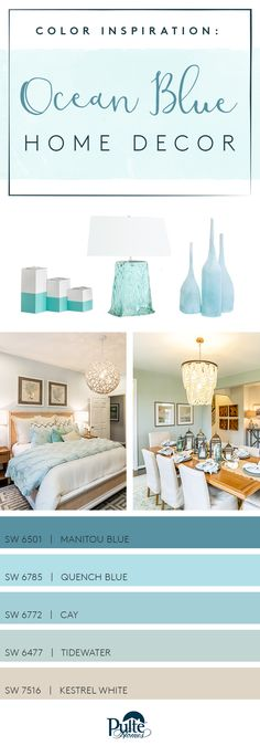 Looking for a cool and calming refresh? Keep your home decor current with ocean-inspired paint colors from @SherwinWilliams. | Pulte Homes